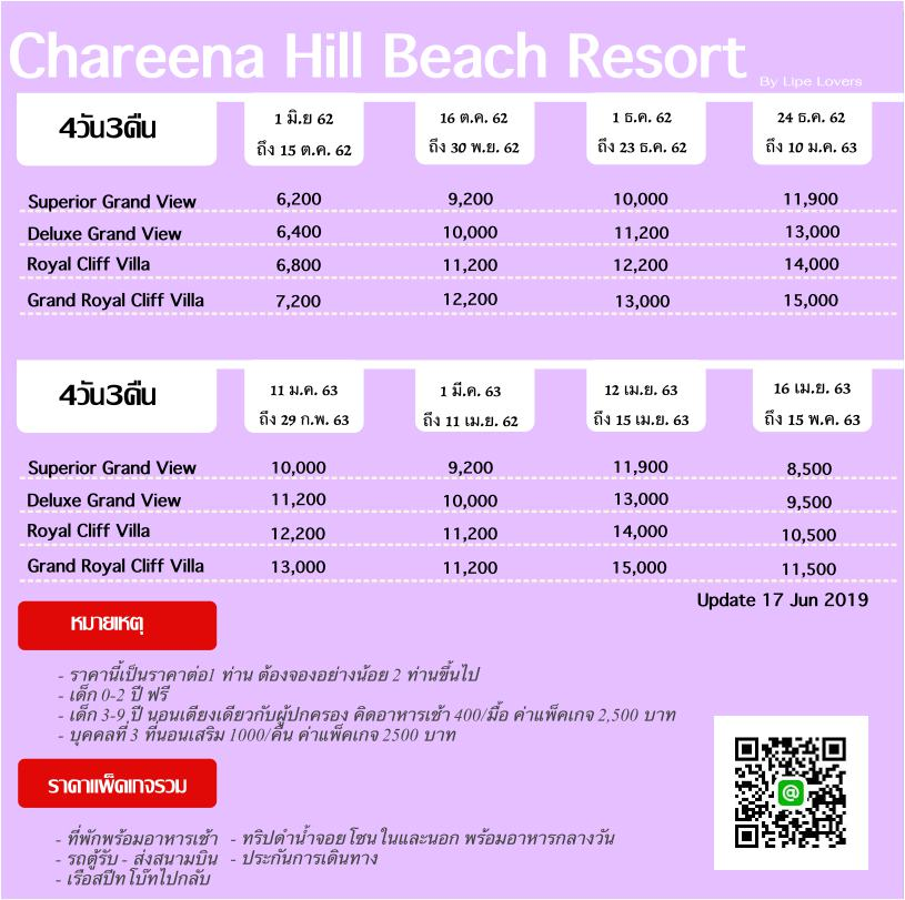 Chareena hill Beach Resort lipe