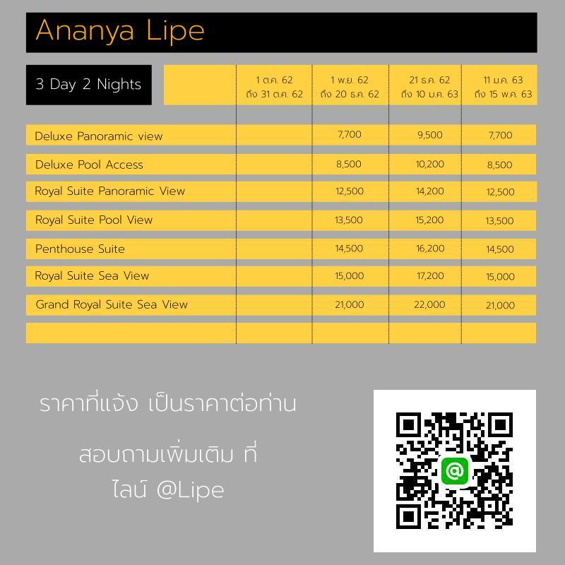 แพ็คเกจ3วัน2คืน Ananya Lipe